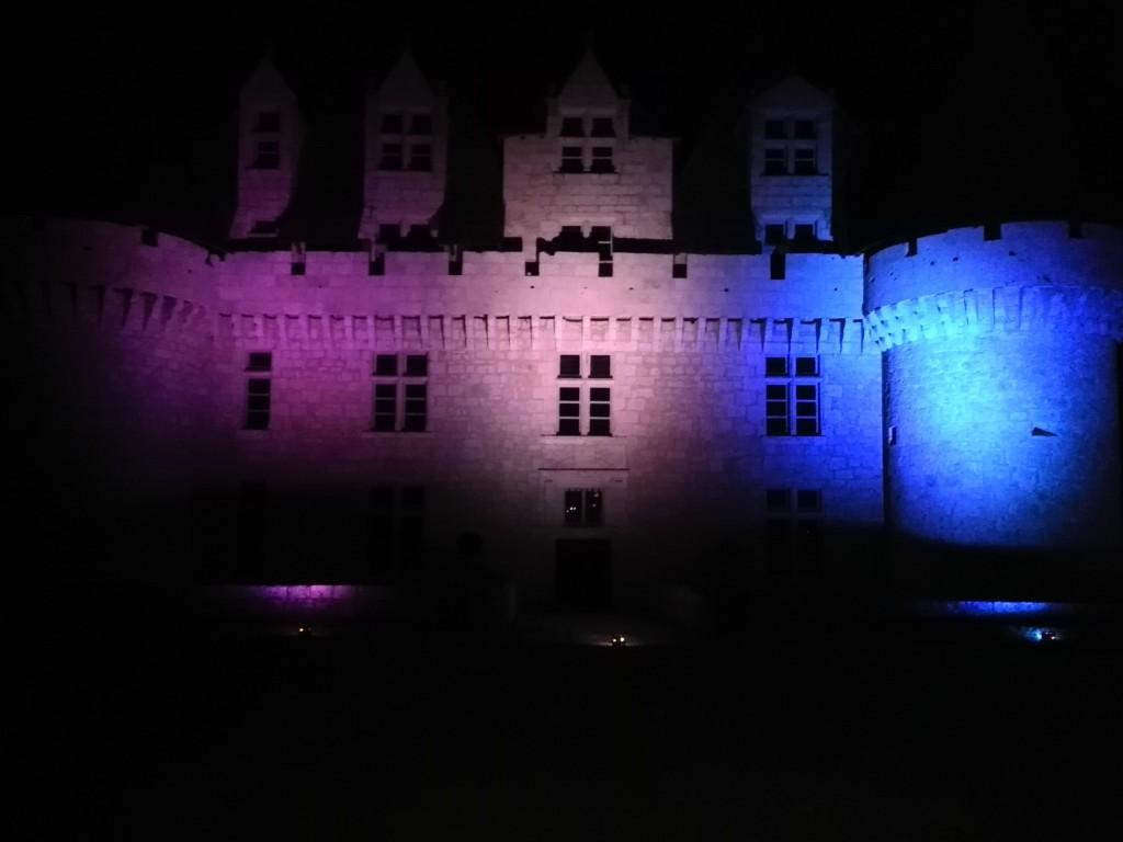 Eclairage extérieur du Château de Monbazillac